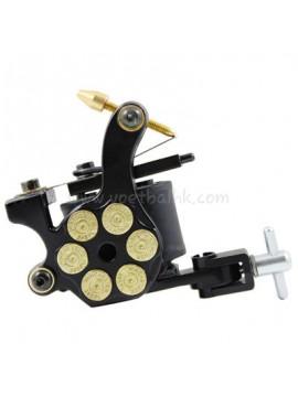 Tatueringsmaskin N105 10 Layer Coil Järnskuggare Bullet Svart