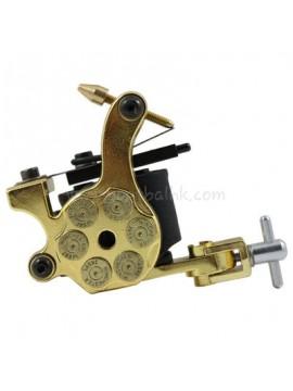 Tatueringsmaskin N105 10 Layer Coil Järnskuggare Bullet Guld