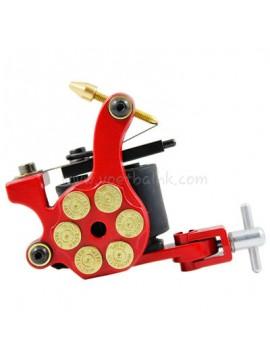 Tatueringsmaskin N105 10 Layer Coil Järnskuggare Bullet Röd