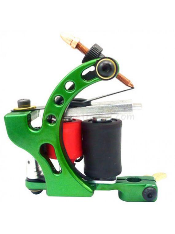 Tatueringsmaskin N110 10 Layer Coil Färg Aluminum Shader Fågel Grön