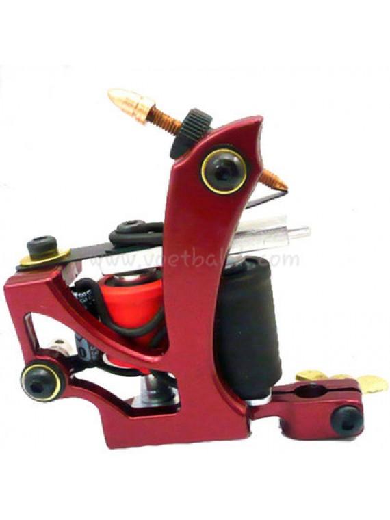Tatueringsmaskin N110 10 Layer Coil Färg Aluminum Shader Flygande Röd