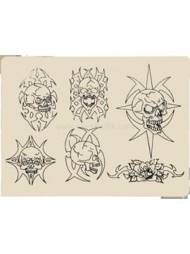 Tatuerings Silikon Öva huden Skalle 10PCS